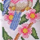 BLUEBIRD AND BLOSSOMS COUNTED CROSS STITCH EYEGLASS KIT