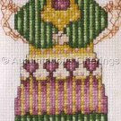COUNTRY ANGEL FLORAL COUNTED CROSS STITCH EYEGLASS CASE KIT