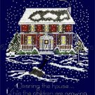 Wintry Home Counted Cross Stitch Kit While the Children are Growing