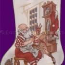 Nostalgic Santa in his Workshop Cross Stitch Stocking Kit Making Toys