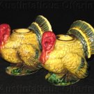 Vintage Mid Century Napco pocelain Turkey Candle Holders