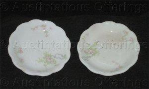 Vintage Johnson Brothers of England Porcelain Butter Plate Set