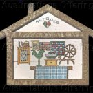 Country Village Vintage Shop Counted Cross Stitch Kit  Antiques Store