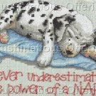 Rare Sleepy Dog Jiffy Naptime Counted Cross Stitch Kit Dalmatian Puppy