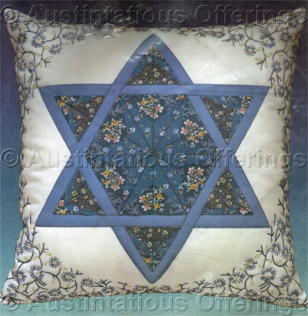 Judaic Interest Calico Star of David Crewel Embroidery Kit Suitable for Beginners