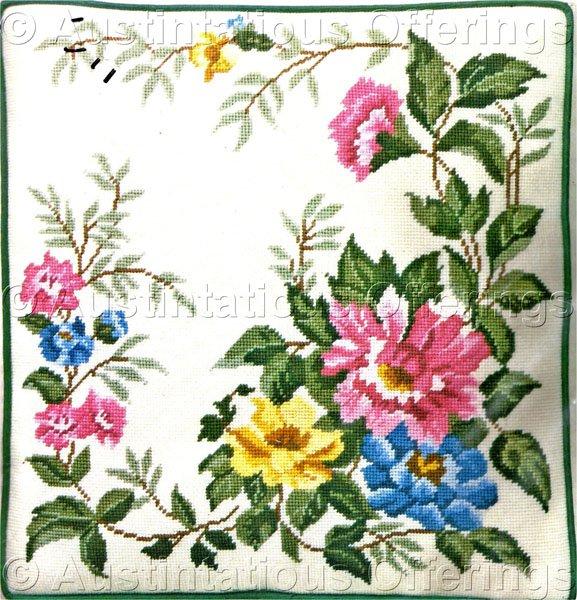 Meredith Scott Classic Wild Roses Needlepoint Kit Elsa Williams