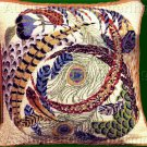Rare Conn Baker Gibney Swirling Feathers Needlepoint Pillow Kit Peacock Pheasant