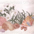Beginners SeaShells and Daisies Stamped Cross Stitch Kit