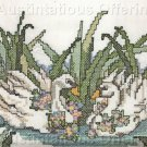 Beginners Swan Pair Stamped Cross Stitch Kit