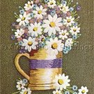 Classic Daisy Pitcher Crewel Embroidery Kit
