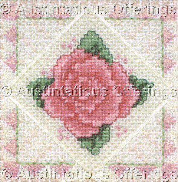 Rare David Gregory Jiffy  Deep Pink Rose Textured Needlepoint Kit