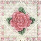 Rare David Gregory Jiffy  Deep Pink Rose Textured Needlepoint Kit