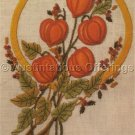 Rare Autumn Floral Bouquet  Crewel Embroidery Kit Chinese Lanterns