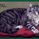 SARA DAVENPORT VICTORIAN TABBY KITTY CAT TAPESTRIES GREY TABBY  NEEDLEPOINT KIT