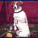 SARA DAVENPORT VICTORIAN DOG TAPESTRIES SITTING JACK RUSSELL NEEDLEPOINT KIT