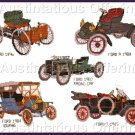 Vintage Ford Touring Cars Cross Stitch Kit Antique Automobiles