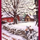 RARE JOHN SLOANE WINTER WOODS  CROSS STITCH KIT FARM MAIL BOX