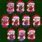 Rare Santa Claus Ornaments Set Cross Stitch Kit Toys Treats