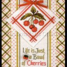 Life is Just a Bowl of Cherries Cross Stitch Kit DooDad Series Marchie