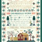 Rare Mid Atlantic American Sampler Reproduction Cross Stitch Kit Ann Wood Cooper Hewitt