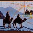Rare Bethlehem Journey Crewel Embroidery Kit Three Wisemen Kings Suitable for Beginners