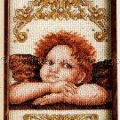 Rare Raphael Cherubim Cross Stitch Kit Sistine Chapel Detail La Madonna di San Sisto Angel
