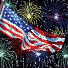 Rare Buriak Patriotic Celebration Cross Stitch Kit Old Glory Independence Day Fireworks USA Flag