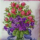Rare Odrzywolek Spring Rosebuds and Violets Needlepoint Pillow Kit