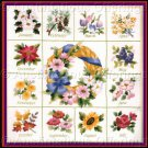 RARE MARCHIE YEAR OF FLOWERS CREWEL EMBROIDERY KIT MONTHLY FLORAL BOUQUET