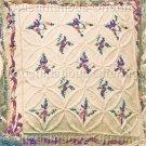 Spring Floral Candlewicking Crewel Embroidery Kit Window Pillow Wedding Ring Circles Diamonds