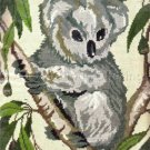 Rare Koala Bear  in Eucalyptus Tree Needlepoint Pillow Kit
