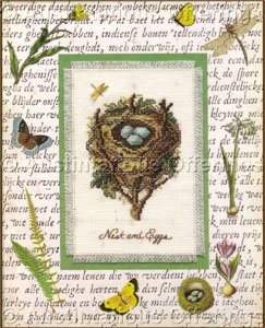 Spring Nest with Eggs Cross Stitch Kit Decorative Mat Charm Nature Collection