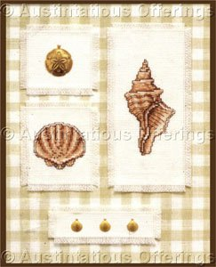 Seashells and Sand Dollars Cross Stitch Kit Decorative Mat Charm Nature Collection