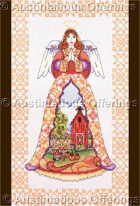 Jim Shore Angels of the Season Cross Stitch Kit Country Autumn