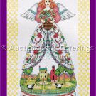 Jim Shore Angels of the Season Cross Stitch Kit Country Summer