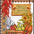 Rare Knopp Southwest Chilis Cross Stitch Kit Kitchen Seasoned with Love