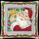 Rare RQ Daily Night Before Christmas Santa Cross Stitch Pillow / Picture Kit