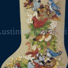 RARE CHRISTMAS FOREST FEATHERED FRIENDS CROSS STITCH CHRISTMAS STOCKING KIT BIRDS CARDINAL