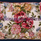 RARE LISLE PINK FLORAL NEEDLEPOINT KIT EHRMAN CHINTZ PILLOW
