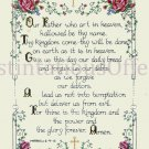 INSPIRATIONAL BIBLE VERSES CROSS STITCH KIT MATTHEW 6-9:13 LORDS PRAYER