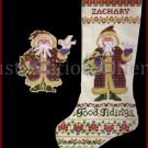 Rare Cozzolino Woodland Santa Cross Stitch Stocking Kit Father Christmas Good Tidings Ornament