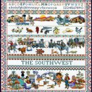RARE GOUGER ICONS OF SOUTHWEST CROSS STITCH SAMPLER KIT GINGER SPICE