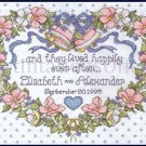Elliot Floral Heart Wedding Sampler Cross stitch Kit Happily Ever After