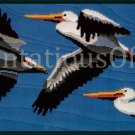 Rare Seabirds in Flight Longstitch Needlepoint Kit Pelican Trio