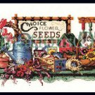 Rare Barbara Mock Gardener Shelf Cross Stitch Kit Treasures Collected from the Garden