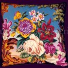 RARE POLITE TO POINT ROSE LILY BERLIN BOUQUET NEEDLEPOINT PILLOW KIT EXQUISITE FLORAL