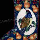 RARE DAYS OF CHRISTMAS PARTRIDGE IN A PEAR TREE NEEDLEPOINT STOCKING KIT