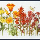 Rare Papais Vibrant Spring Garden Wildflowers Cross Stitch Kit Rainbow Floral