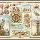 RARE OCEANSIDE TREASURES CROSS STITCH KIT SEA SHORE MEMORIES SAMPLER