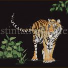 Rare Ken Lilly Dramatic Tiger in the Shadows Cross Stitch Kit Jungle Protector